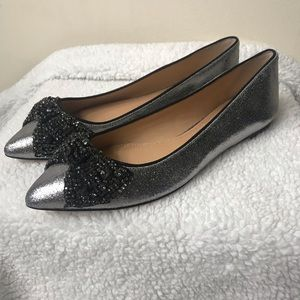 "Tory Burch Crystal Bow Flats ""Vanessa"" NEVER WORN"